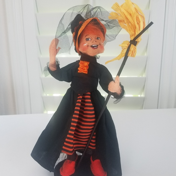 Annalee witch doll Halloween decore